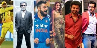 India's Top Celebrities