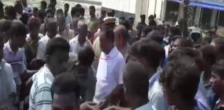 Minister OS Manian's convoy attacked