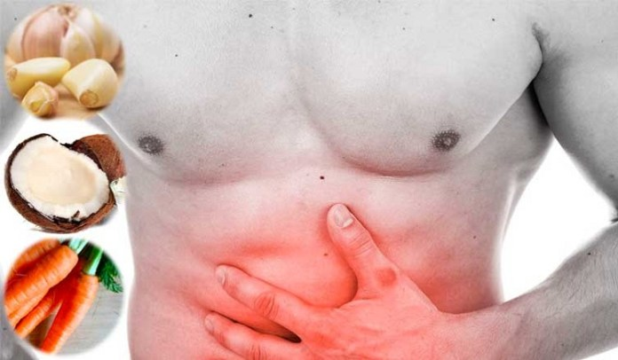 Solution for Abdominal worms :