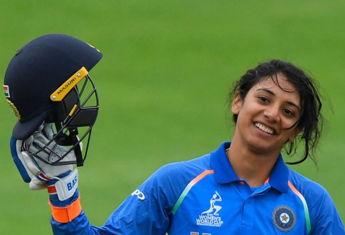 Mandhana First place