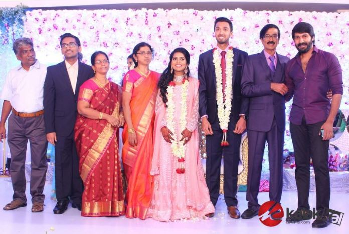 Director Manobala Son Harish weds Priya Wedding Reception PhotosDirector Manobala Son Harish weds Priya Wedding Reception Photos