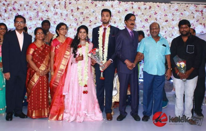 Director Manobala Son Harish weds Priya WeddiDirector Manobala Son Harish weds Priya Wedding Reception Photosng Reception Photos