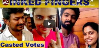 Celebrities Cast Vote