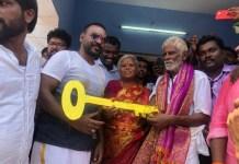 Raghava Lawrence directly on the field : Gaja cyclone affected Home | Kanchana 3 | Kollywood | Tamil Cinema | Lawrence Help For Poor People