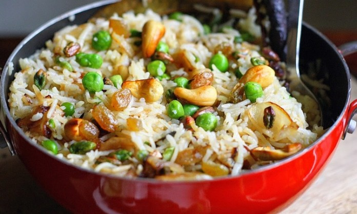Dry Fruits Rice Recipe : South Indian Recipe, Easy Rice Recipe, Veg Recipes of India, Quick And Easy Recipes, Indian Recipes, Easy Recipe
