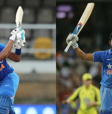 Indian cricket team two captains