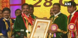 doctorate degree for tamilnacu cm palaniswamy