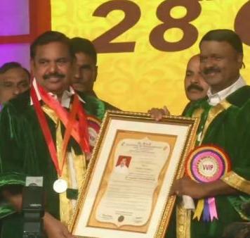 doctorate degree for tamilnacu cm palaniswamy
