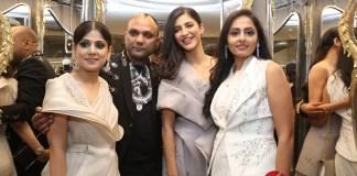 Actress Shruti Hassan and Shriya Saran at the Launch of Ace Couturier