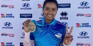 Deepika Kumari won the gold medal