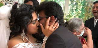 Vanitha Kisses to Peter Paul