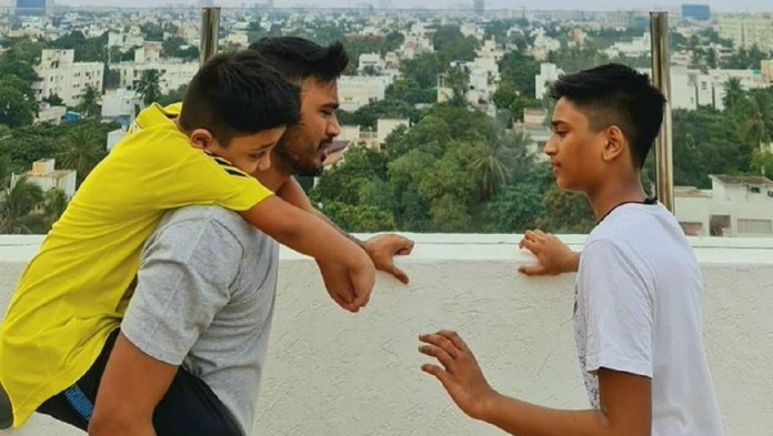 Dhanush With Her Sons