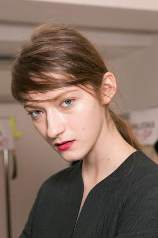 Milan Fashion Week MSGM show 2015 makeup by Kalam
