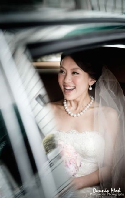 Kalamakeup for bride Sally's wedding at Peninsula hotel, H.K.