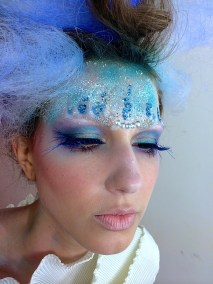 creative blue makeup