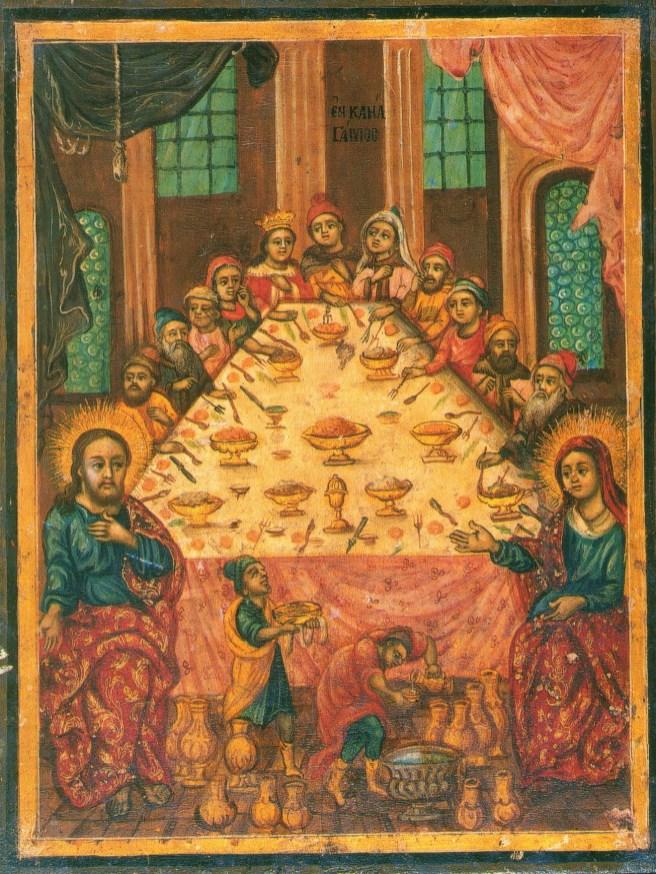 Antique icon, Cana Wedding