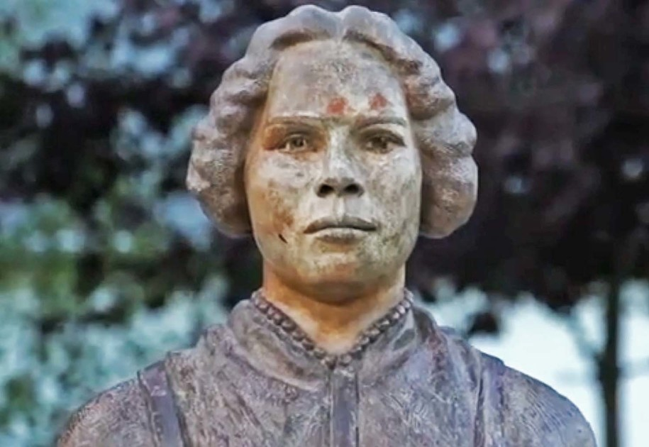 Bust of Mary Ann Shadd, black abolitionist, feminist, and publisher, by sculptor Artis Shreve Lane in the British Methodist Episcopal (BME) Freedom Park - Chatham, Ontario