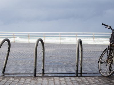 Bicicleta Donostia lluvia