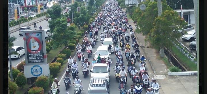Ribuan Umat Islam Melakukan Aksi Demontrasi Tolak RUU HIP/ISTIMEWA