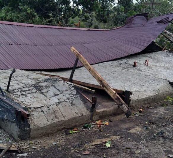 Angin Puting Beliung Sapu 20 Rumah di Parit Akop Desa Permata Jaya