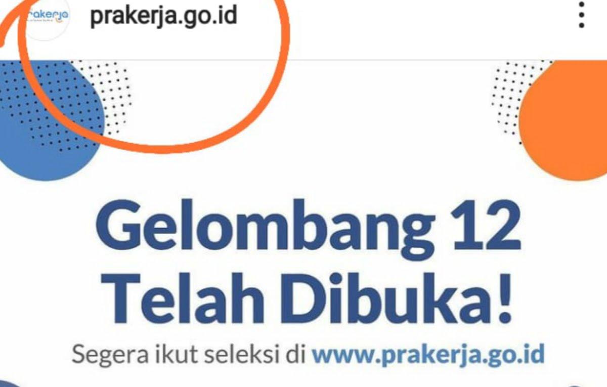 Segera daftar di www.prakerja.go.id, Gelombang 12 Kartu Prakerja Tutup Jumat 26 Februari 2021