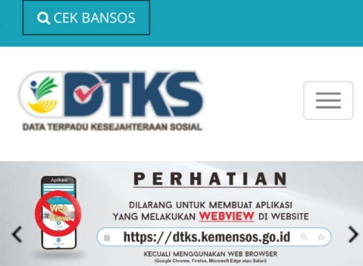 Link dtks.kemensos.go.id, Cek Penerima Bansos Tunai Rp 300 Ribu 2021
