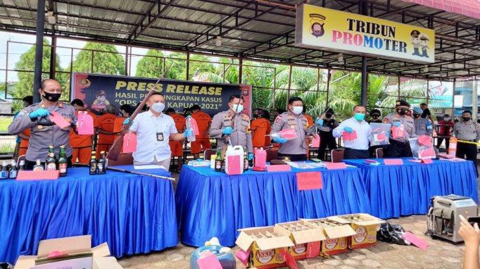 Polres Sanggau Ungkap 98 Kasus