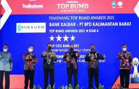 Bank Kalbar Raih Penghargaan TOP BUMD 2021 #Bintang 4