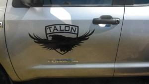 Talon Retention truck graphic