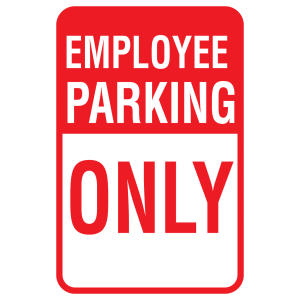 Stock Signs - Employee Parking Only