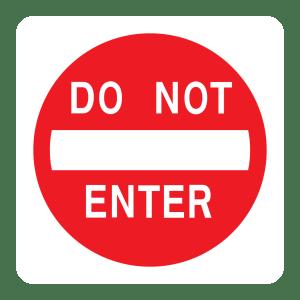 Stock Signs - Do Not Enter