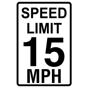 Stock Signs - Speed Limit 15