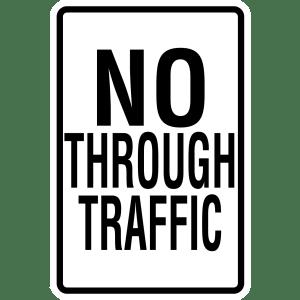 Stock Signs - No Thru Traffic
