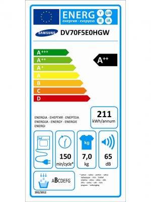 Image result for Samsung DV70M5020QW/LE