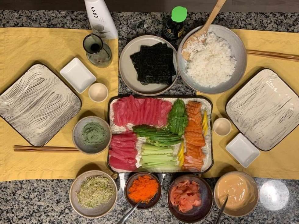 Sashimi Sushi at Home. Phot by Dave Hughes