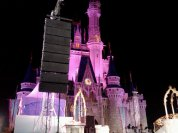 """Hanging the rig at one of the last Grad Nights. This was also the last time we did a """"kneeling giraffe"""" rig due to the new projection mapping technology on the castle."""