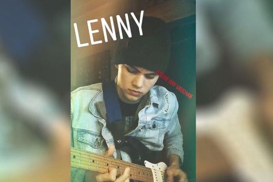 Kaleb Justice playing guitar Lenny