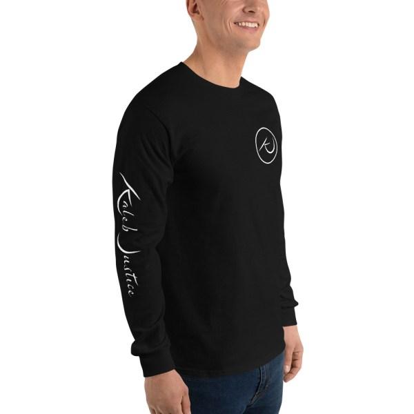 Kaleb Justice Brand Black Long Sleeve T-Shirt Angle