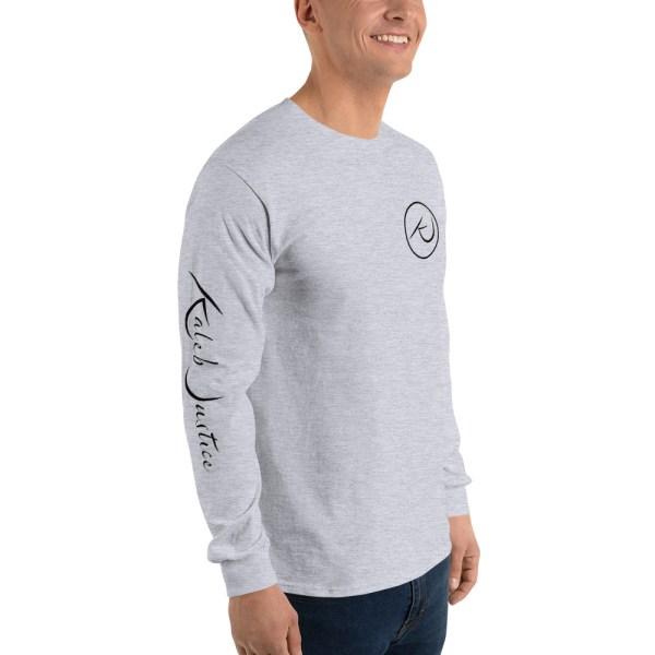 Kaleb Justice Brand Grey Long Sleeve T-Shirt Angle