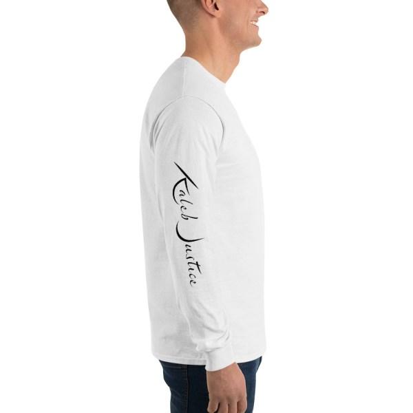 Kaleb Justice Brand White Long Sleeve T-Shirt Side