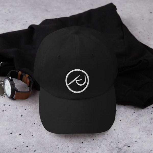 KJ Design Black Hat Front Product Mockup