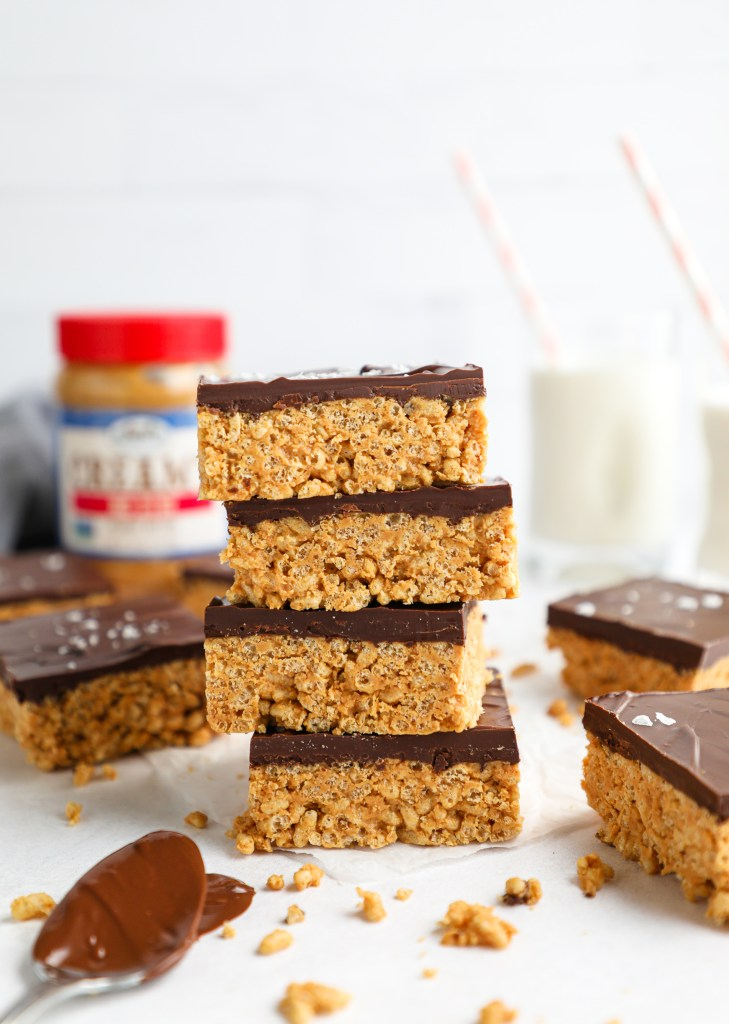 Quick, easy and so much fun to make too! These peanut butter crunch bars are perfect to keep on hand for whenever you want a healthier sweet treat!