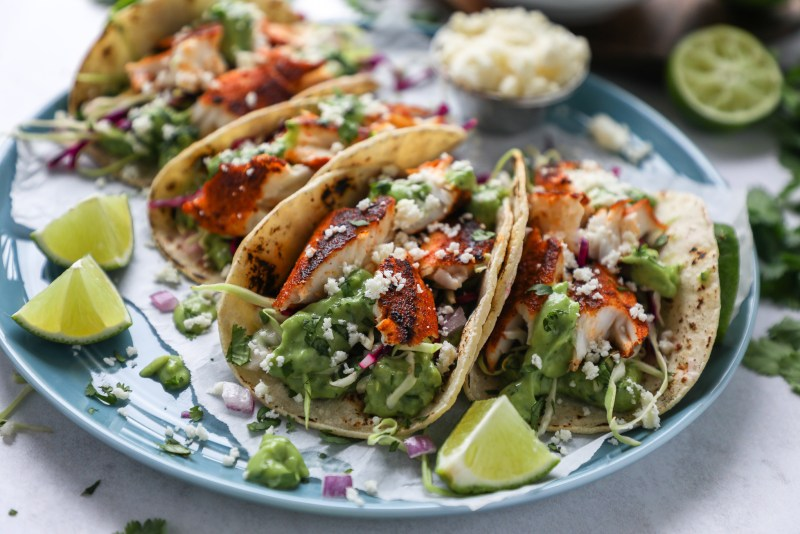 The best and easiest fish taco recipe you will ever find! These are always a family favorite and are perfect for a quick and easy dinner too!