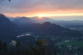 Sunset over Hohenschwangau