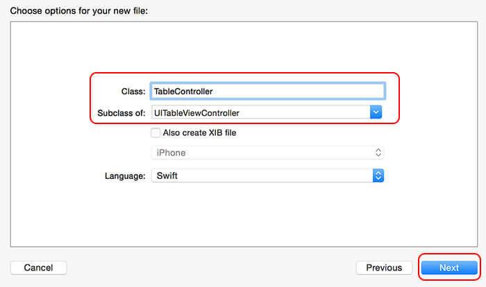 Swift: add custom class