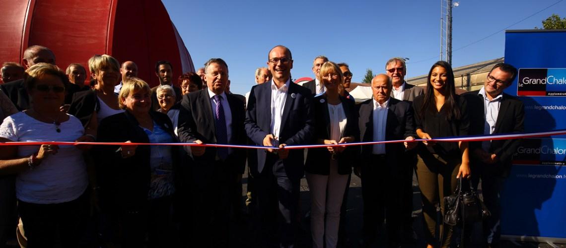 inauguration du théâtre du port nord à Chalon-sur-Saône