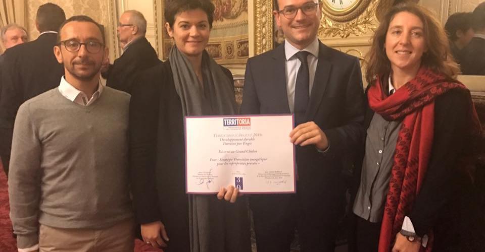 Le Grand Chalon reçoit le Prix Territoria 2016