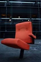 Photographie d'un siège du grand espace de l'Espace des arts