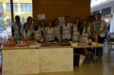 L'équipe de l'Hôpital William Morey pour Octobre Rose