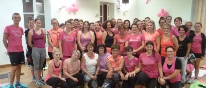 Atelier de gymnastique rose pour ce mois d'Octobre à Châtenoy en Bresse